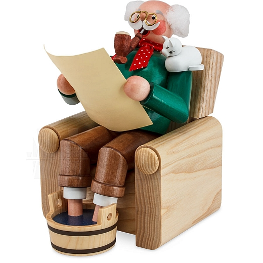 Räuchermann Opa im Sessel