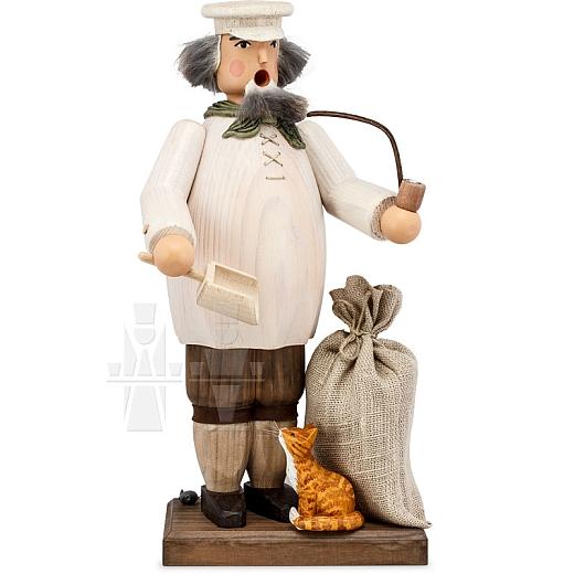 Räuchermann Müller mit Katze