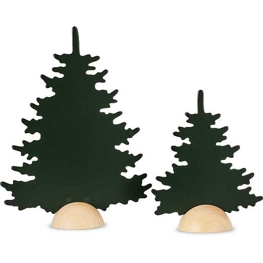 Zwei Tannen grün