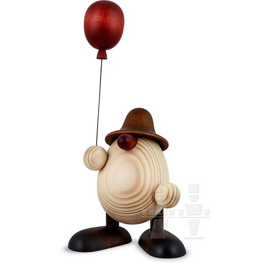 Eierkopf Otto mit Luftballon braun