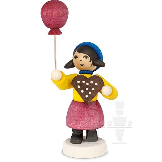 Pfefferkuchenmädchen mit Ballon gebeizt von Ulmik
