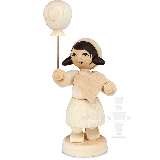 Pfefferkuchenmädchen mit Ballon natur von Ulmik