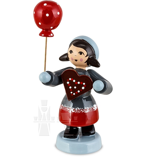 Pfefferkuchenmädchen mit Ballon rot von Ulmik