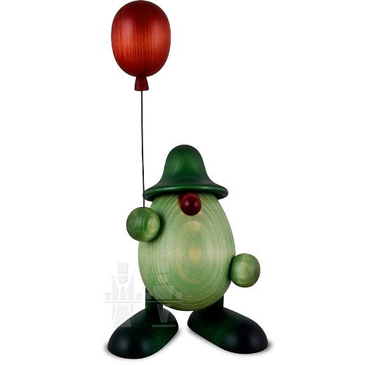 Grünes Männlein mit Luftballon