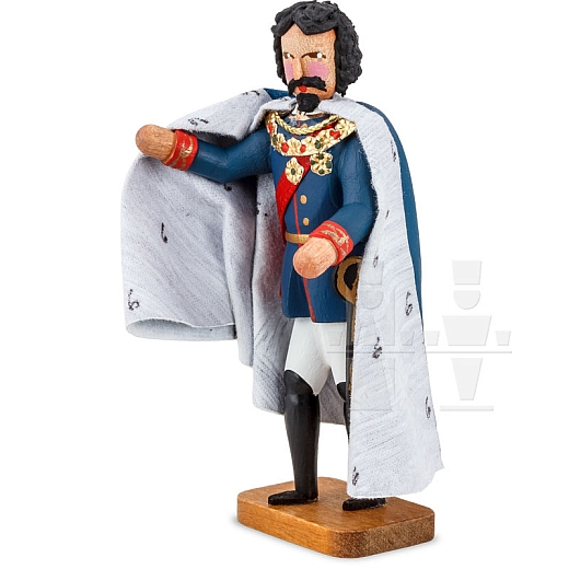 Ludwig der II. der Bayernkönig blauer Mantel