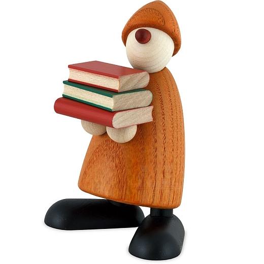 Gratulant Billy gelb mit Büchern