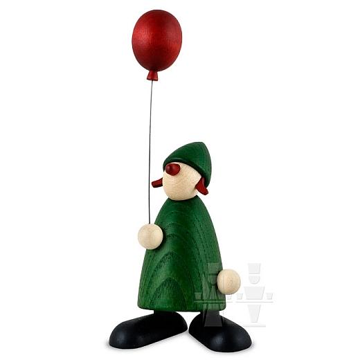 Gratulantin Lina grün mit rotem Luftballon