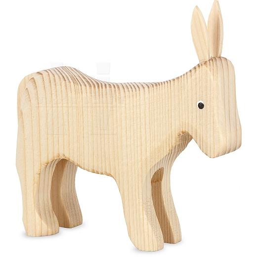 Esel stehend natur für 13 cm Krippenfiguren