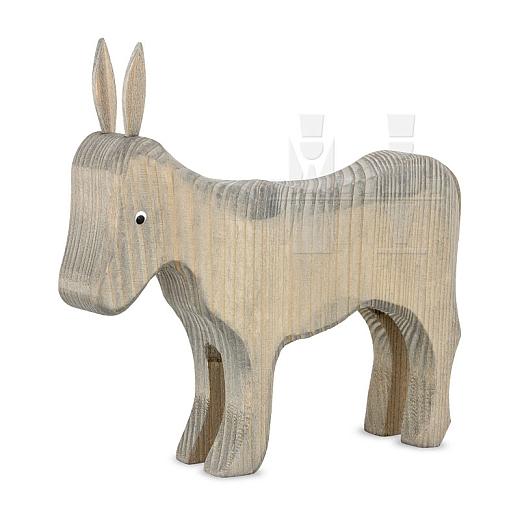 Esel stehend gebeizt für 22 cm Figuren