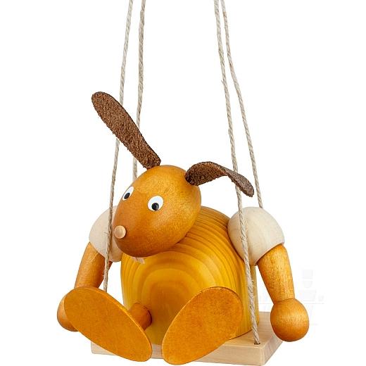Hase gelb auf Schaukel 11 cm