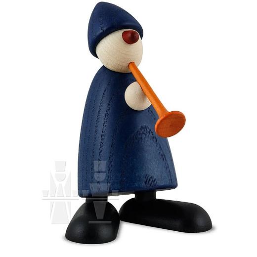 Gratulant Karlchen blau mit Flöte