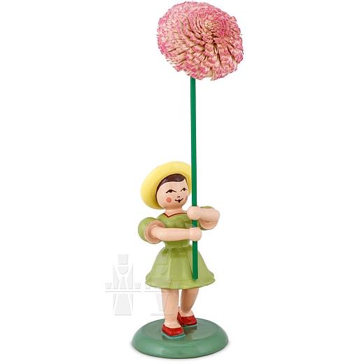 Blumenkind farbig mit Chrysantheme