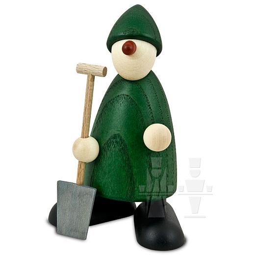 Gratulant Hans grün mit Spaten