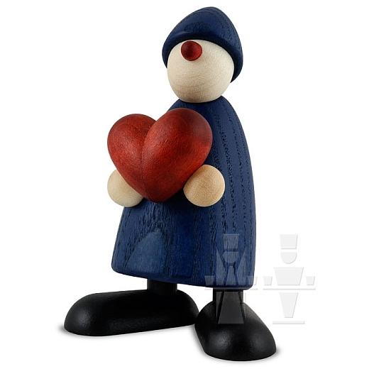 Gratulant Theo blau mit Herz