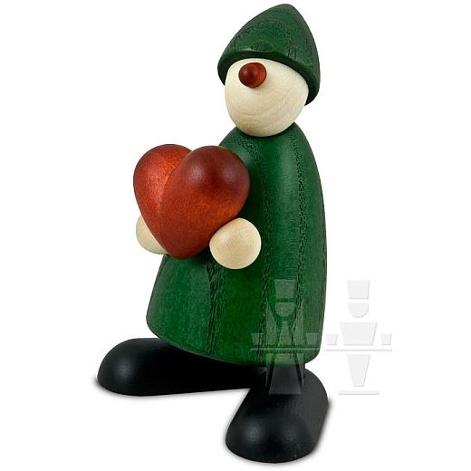 Gratulant Theo grün mit Herz