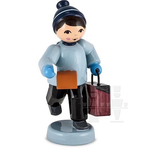 Junge mit Koffer blau von Ulmik