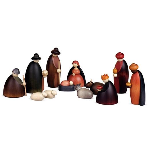 Weihnachtskrippe Krippenfiguren, 12-teilig 12 cm