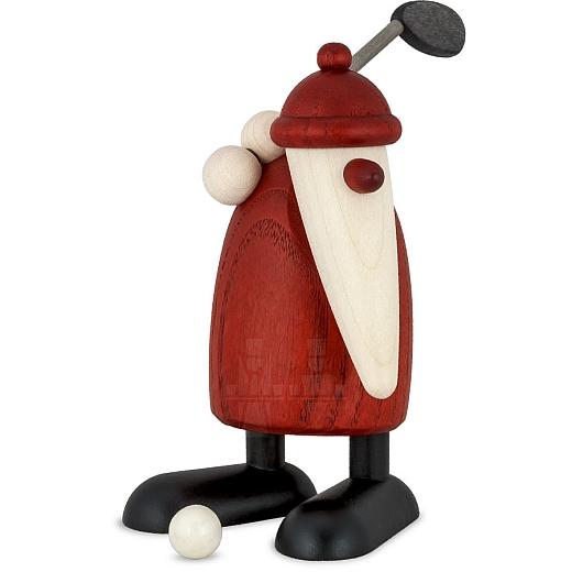 Weihnachtsmann mit Golfschläger
