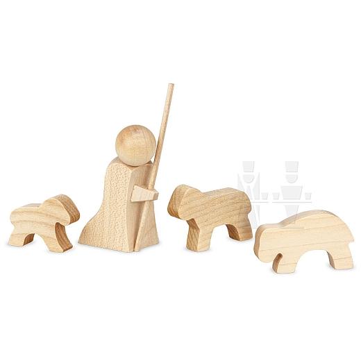 ML Shepherd kneeling natural wood