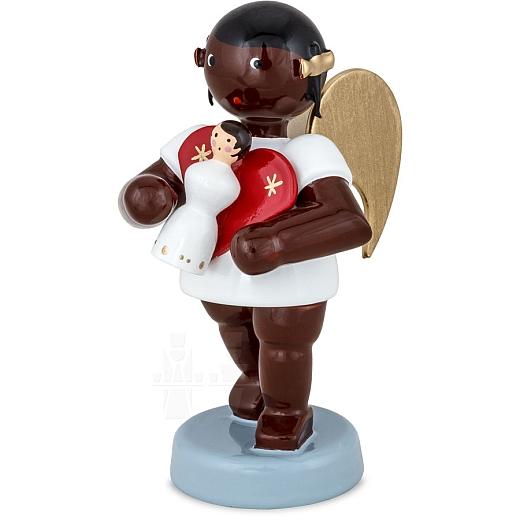 Afrikaner Engel mit Seiffener Engel 6 cm
