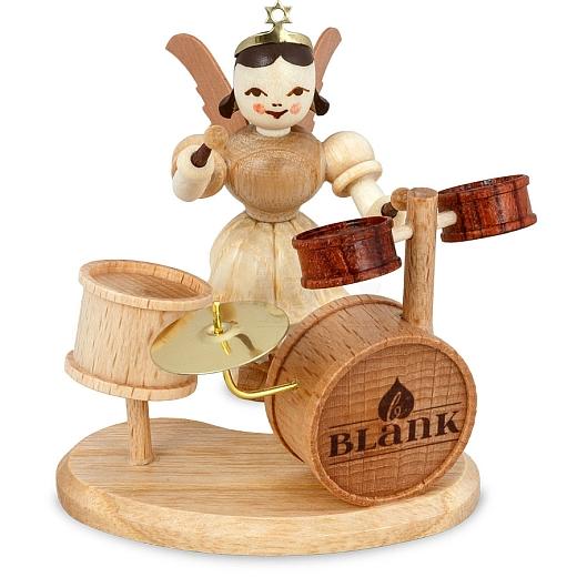 Kurzrockengel Naturholz mit Schlagzeug