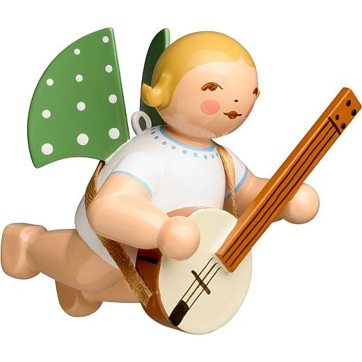 Engel mit Banjo schwebend von Wendt & Kühn