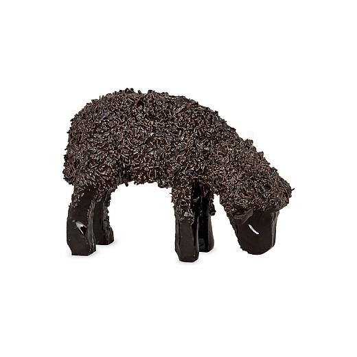 Schaf fressend lackiert für 7 cm Figuren