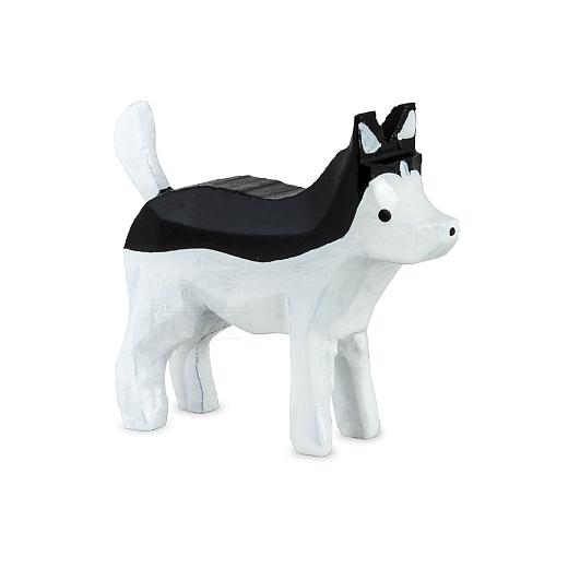 Huskeykinder Huskey schwarz-weiß von Ulmik