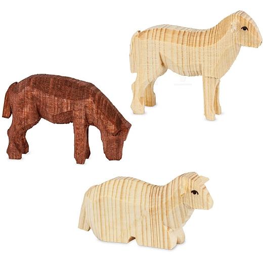 Drei Schafe gebeizt von Ulmik