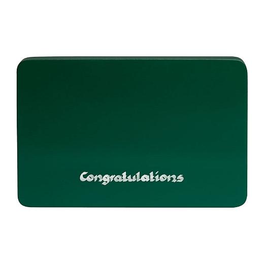"""Wendt & Kühn Beschriftete Sockelplatte grün """"Congratulations"""""""