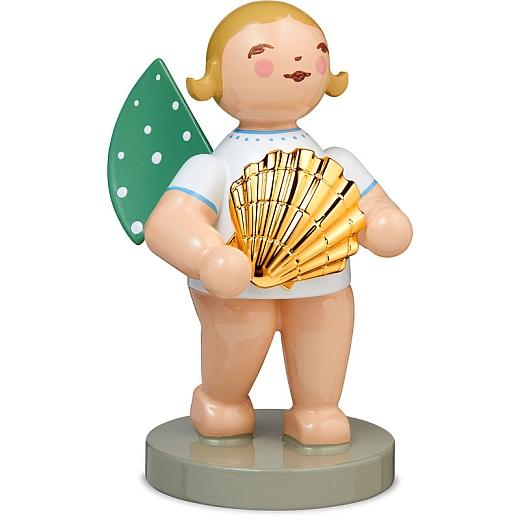 Entdecker Engel mit Muschel vergoldet Goldedition Nr. 14 von Wendt & Kühn