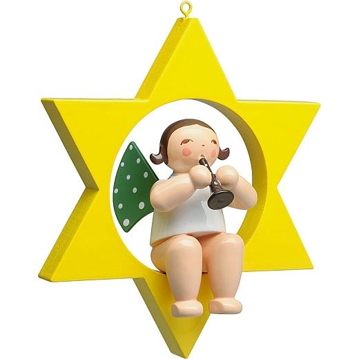 Engel mit Klarinette im Stern von Wendt & Kühn