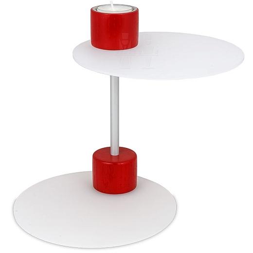 MONO lacto Teelichthalter rot von Näumanns