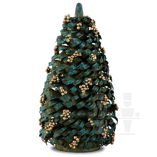 Weihnachtsbaum mit goldenen Kugeln 10 cm