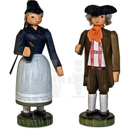 Bauernpaar mit Röhntracht