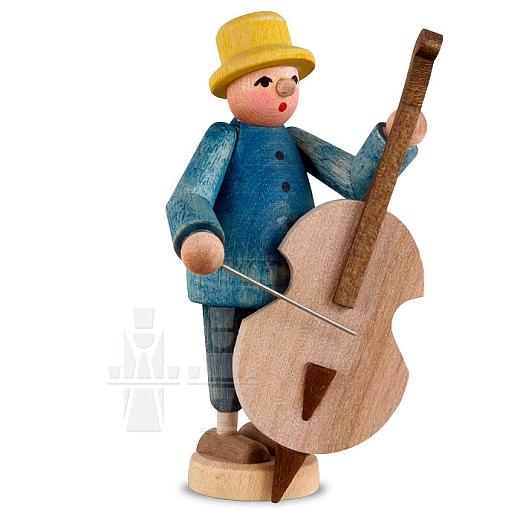 Musiker mit Baßgeige