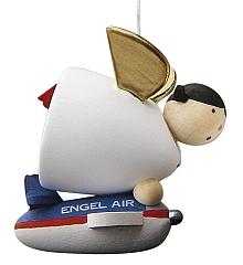 Schutzengel mit Flugzeug, schwebend