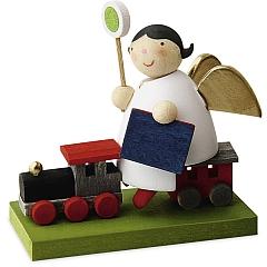 Schutzengel auf Eisenbahn