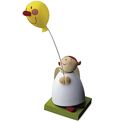 Schutzengel mit Luftballon mit Gesicht