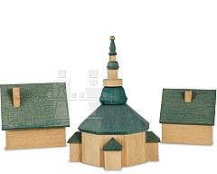 Seiffener Kirche mit Häuser