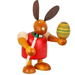 Maxi Hase rot mit Pinsel und Ei 24 cm