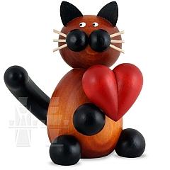 Katze Bommel mit Herz