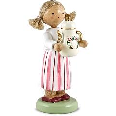 Mädchen mit Kaffeekanne