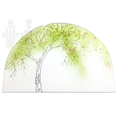 Gläsernes Bild Frühlings Apfelbaum