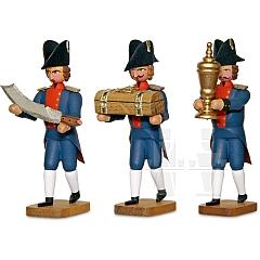 Drei Bäckermeister mit Stollenmesser, Innungslade, Kelch