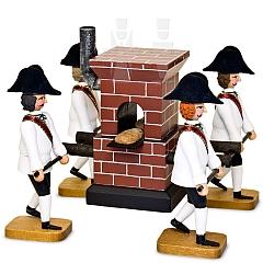 Bäckerofen mit vier Trägern