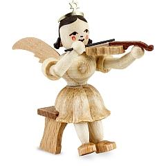 Kurzrockengel Naturholz Violine sitzend