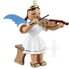 Kurzrockengel farbig Violine sitzend