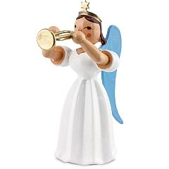 Langrockengel farbig Trompete