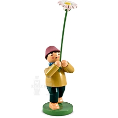 Junge mit Gänseblume